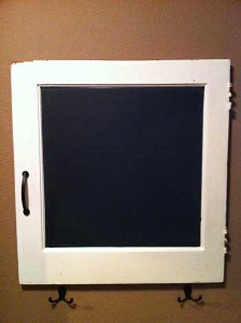 A New Chalkboard for our Laundry Room made from a Cabinet Door   Storypiece.net