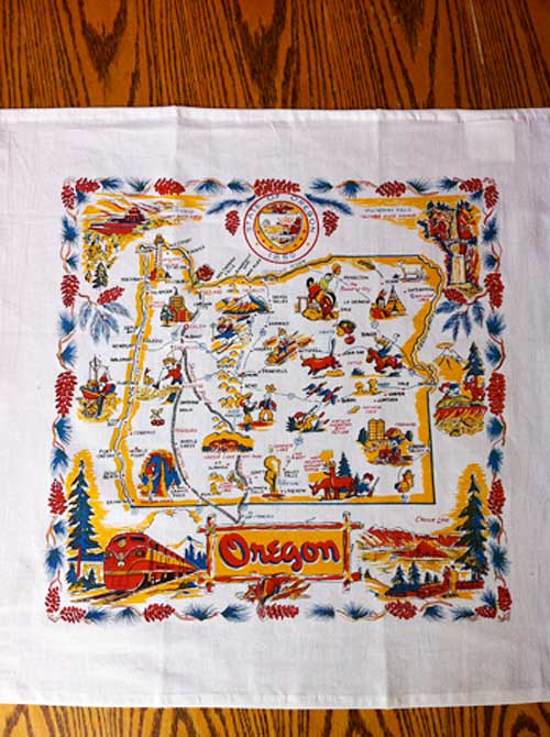 Vintage Oregon Tea Towel | Storypiece.net