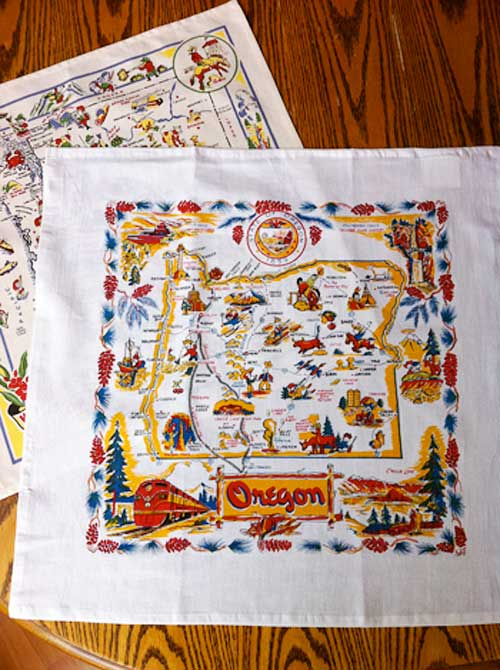 Vintage Washington Oregon Tea Towels | Storypiece.net