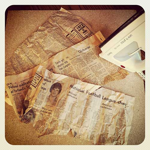 Ironing Newspaper | Storypiece
