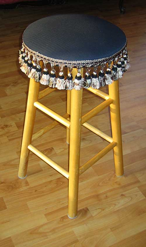 Upholstered Bar Stool | Strypiece.net