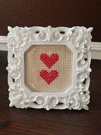 Two Hearts Framed