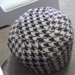 Feature Story: Houndstooth Pouf