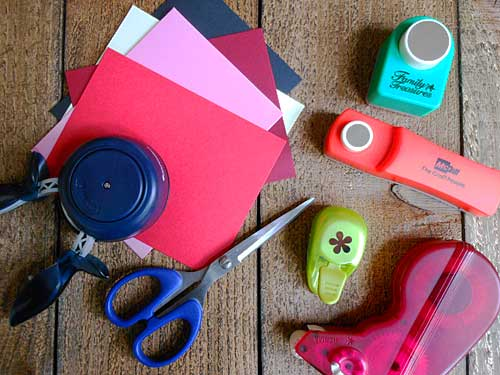 Supplies for Upcycling Cards | Storypiece