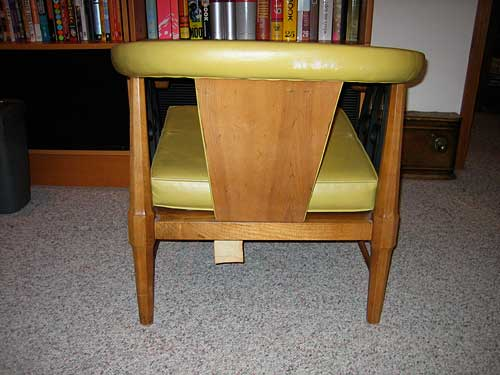 Backside of MidCentury Chair