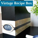 DIY Recipe Storage with Vintage Recipe Cards