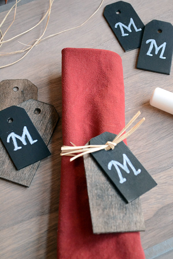 Monogram Thanksgiving Napkin Rings | Storypiece.net