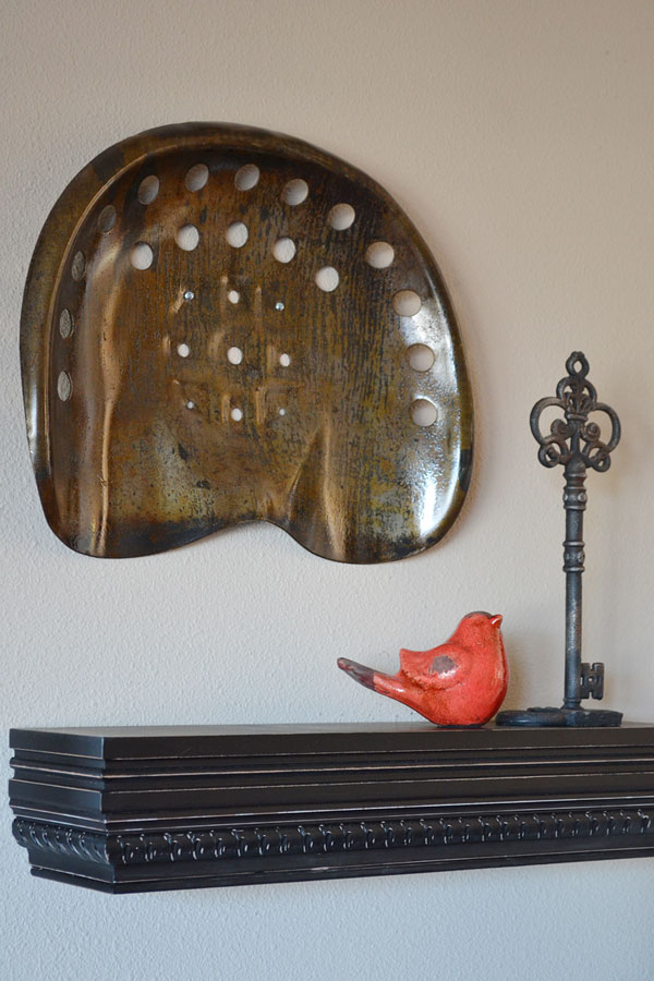 Custom Glazed Antique Tractor Seat | Storypiece.net