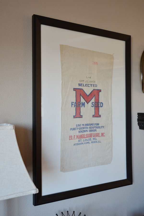 Framed Vintage Seed Bags | Storypiece.net