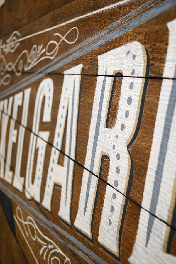 Rustic Painted Sign | Storypiece.net