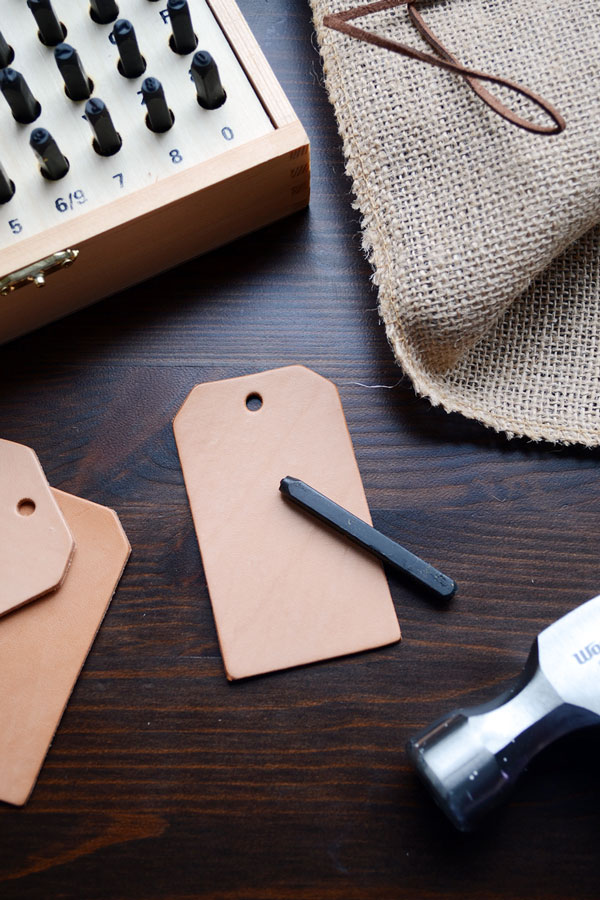 DIY Leather Wine Tags | Storypiece.net