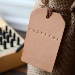 Thanksgiving Leather Wine Tags