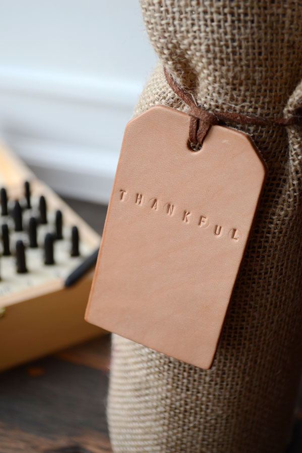Thanksgiving Leather Wine Tags | Storypiece
