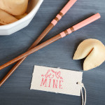Easy Color Block Chopsticks for Valentine's Day