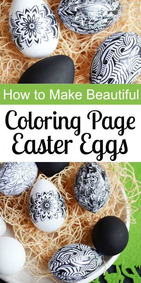 How to Make Beautiful Easter Eggs with Coloring Pages | Storypiece.net