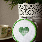 How to Make a Washi Embroidery Hoop with Heart Pattern
