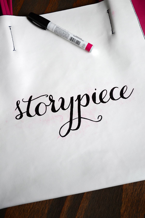 DIY Hand Lettered Tote Bag | Storypiece.net