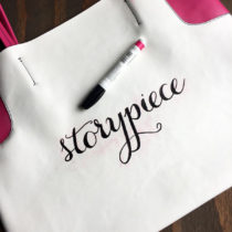 Hand Lettered Tote Bag | Storypiece.net
