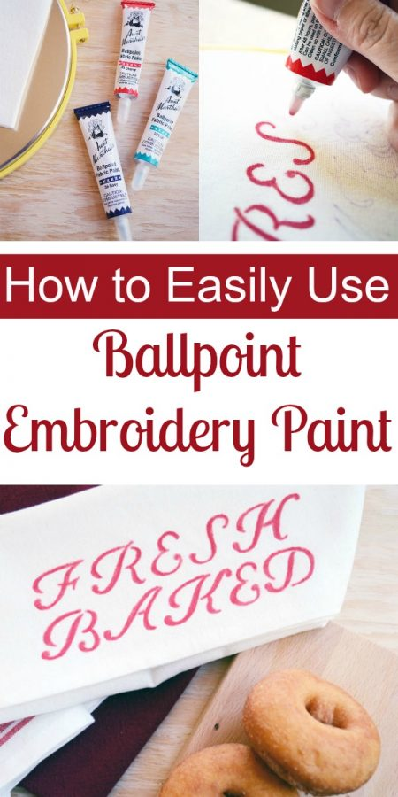 How to Easily Use Ballpoint Embroidery Paint | Storypiece.net