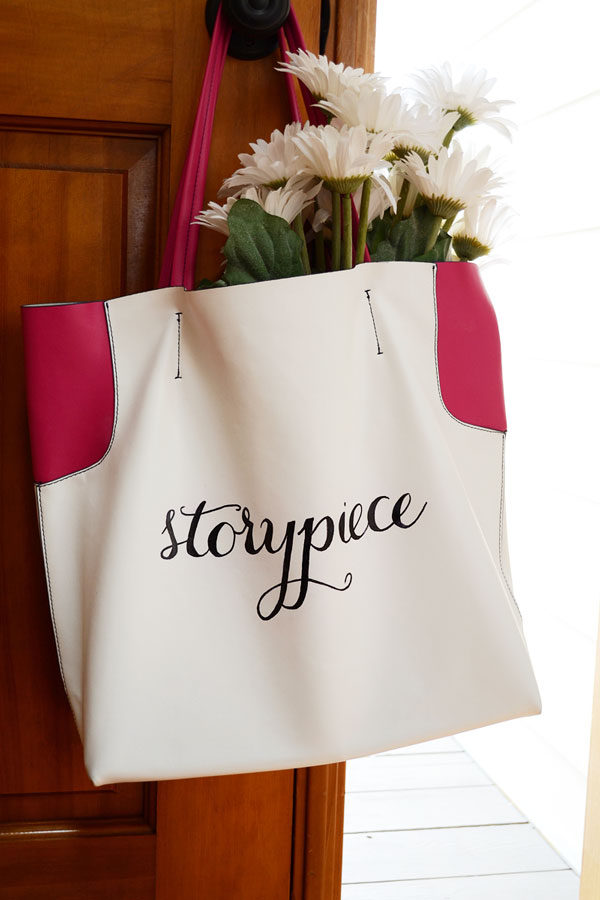 Storypiece Hand Lettered Bag | Storypiece.net