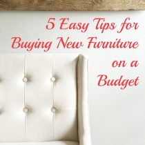 Tips for Buying Furniture On A Budget | Storypiece.net