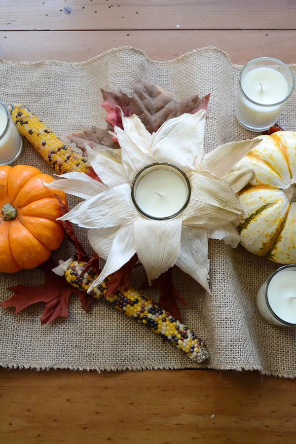 Cornhusk Wrapped Candles for Fall | Storypiece.net