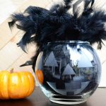 Glass Etched Halloween Jack-o-lantern