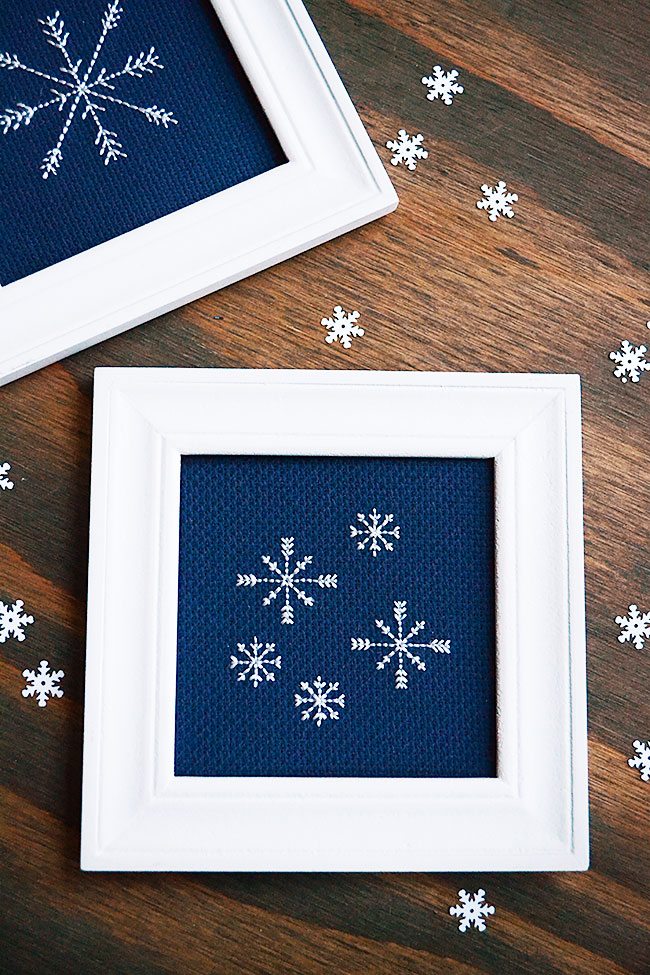 Backstitch Tutorial And Free Snowflake Pattern Storypiece