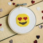 Delightful Emoji Cross-stitch Pattern – Free for Valentine's Day
