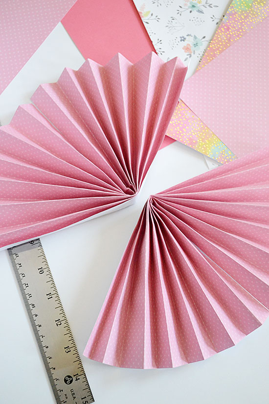 Simple & Easy DIY Paper Fan Rosette Decor for Mother's Day