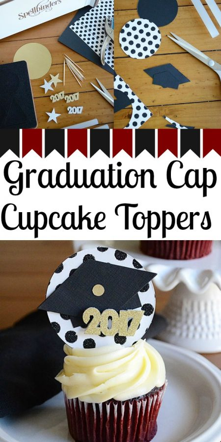 How to Make Graduation Cap Cupcake Toppers