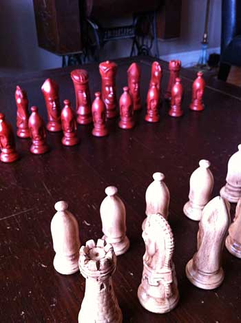 Antique Chess Pieces   Storypiece