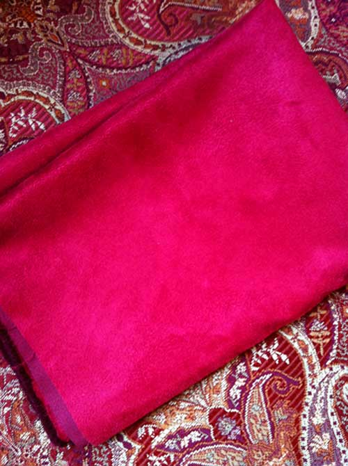 Red Faux Suede | Storypiece.net