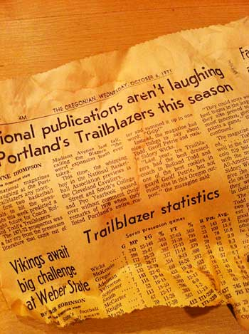 Sports Section 1971 | Storypiece
