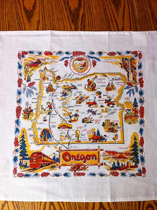Vintage Oregon Tea Towel | Storypiece.net