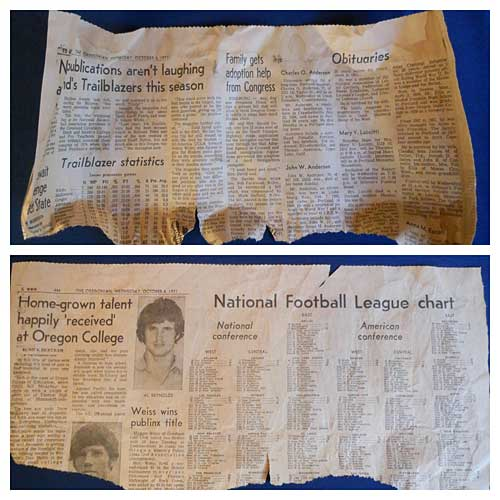 Before & After - Ironed Newsprint | Storypiece
