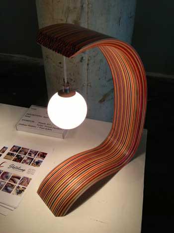 Skateboard Lamp skateboard lamp | storypiece