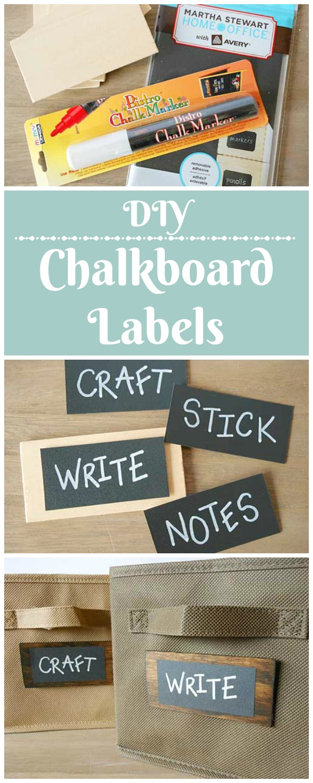 DIY Chalkboard Labels | Storypiece.net