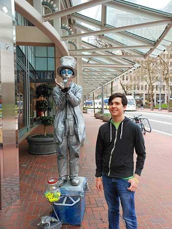 Silver Statue Man