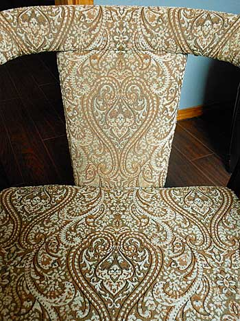 Brown and Blue Damask Fabric