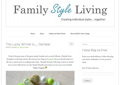 Family Style Living Giveaway Winner | Storypiece