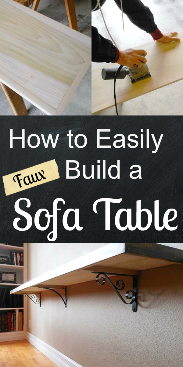 How to Easily Build a Faux Sofa Table | Storypiece.net