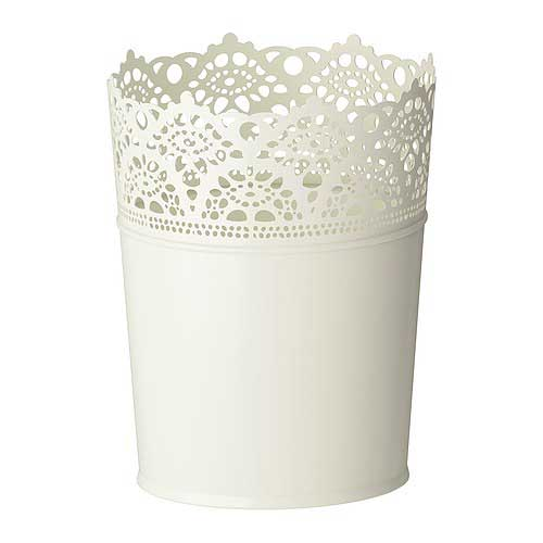 IKEA Lace Trimmed Plant Pot