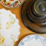 Hanging Vintage Plates