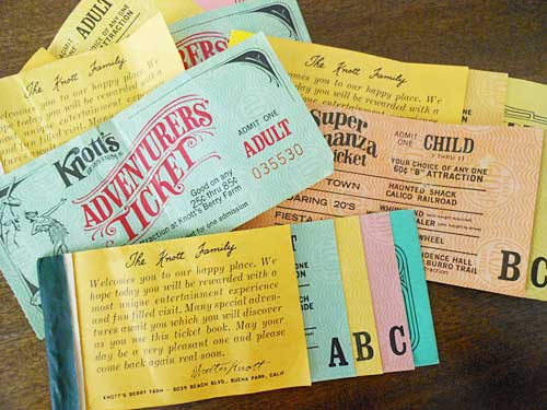 Knotts Ticket Books | Storypiece.net