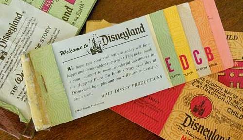 Vintage Disney Ride Tickets | Storypiece.net