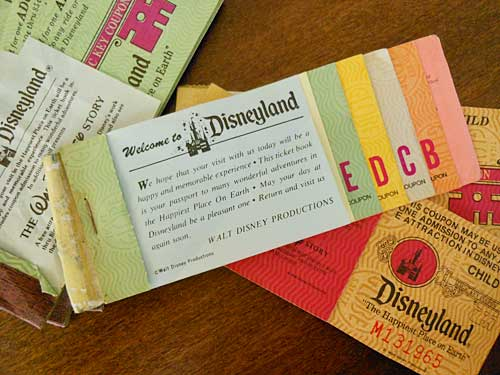 Vintage Disney Ride Tickets | Storypiece.net