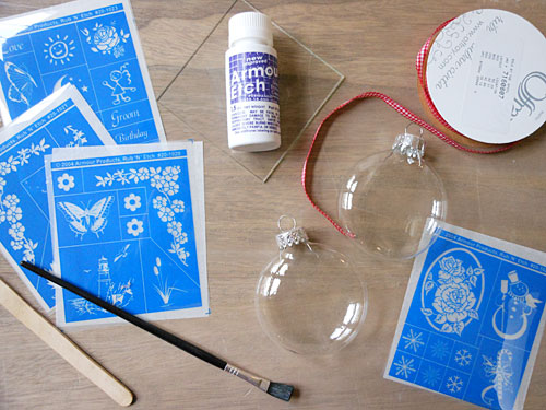 Glass Etched Ornament Supplies | Storypiece.net