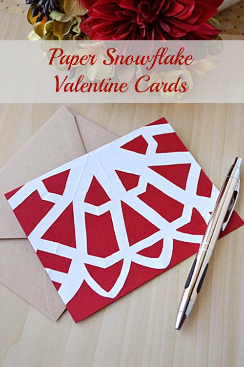 Paper Snowflake Valentine Cards | Storypiece.net