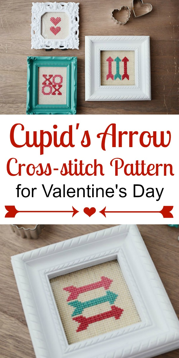 Cupid's Arrow Cross-stitch Pattern | Storypiece.net
